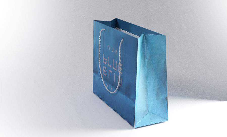 Shopping Bag royalty-free 3d model - Preview no. 3