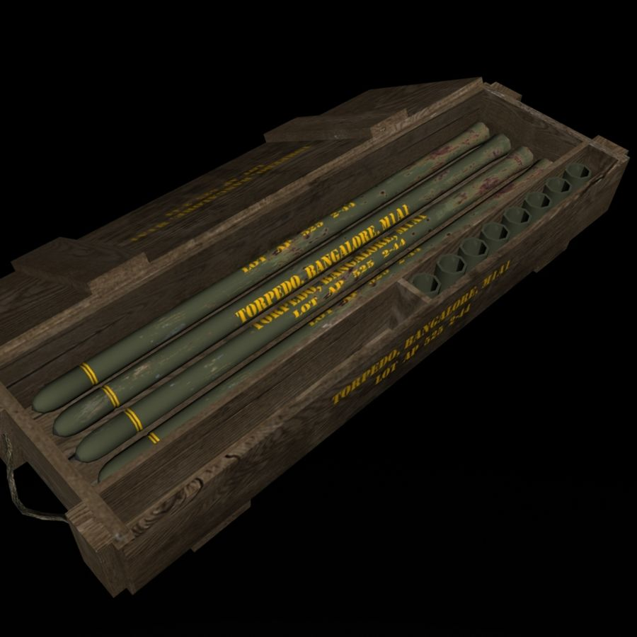 Bangalore Torpedo Crate royalty-free 3d model - Preview no. 4