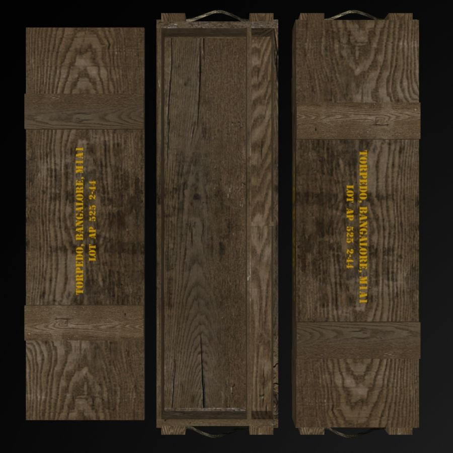 Bangalore Torpedo Crate royalty-free 3d model - Preview no. 6