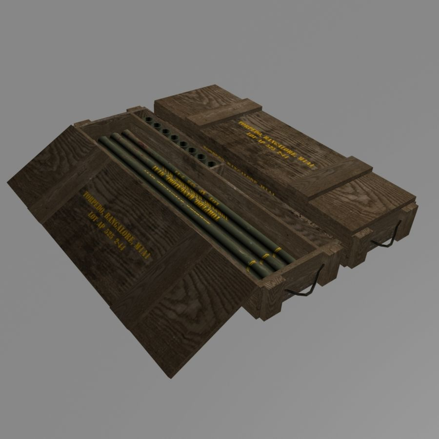 Bangalore Torpedo Crate royalty-free 3d model - Preview no. 1