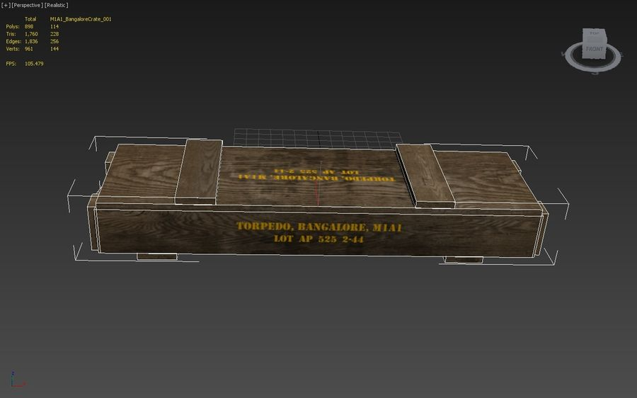 Bangalore Torpedo Crate royalty-free 3d model - Preview no. 3