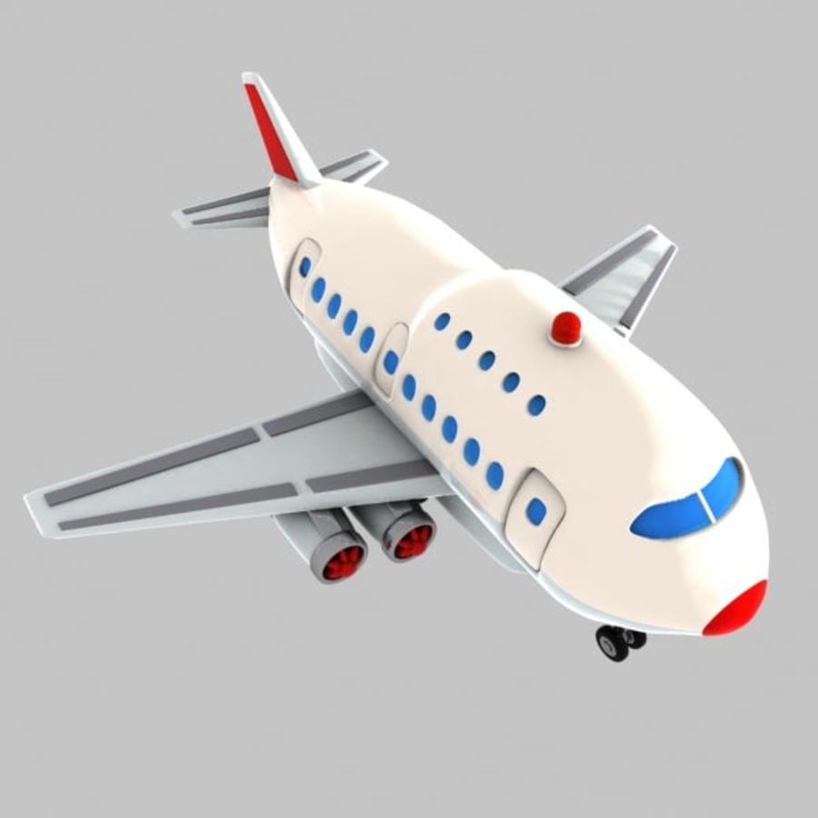 Cartoon Wide-Body Aircraft royalty-free 3d model - Preview no. 1