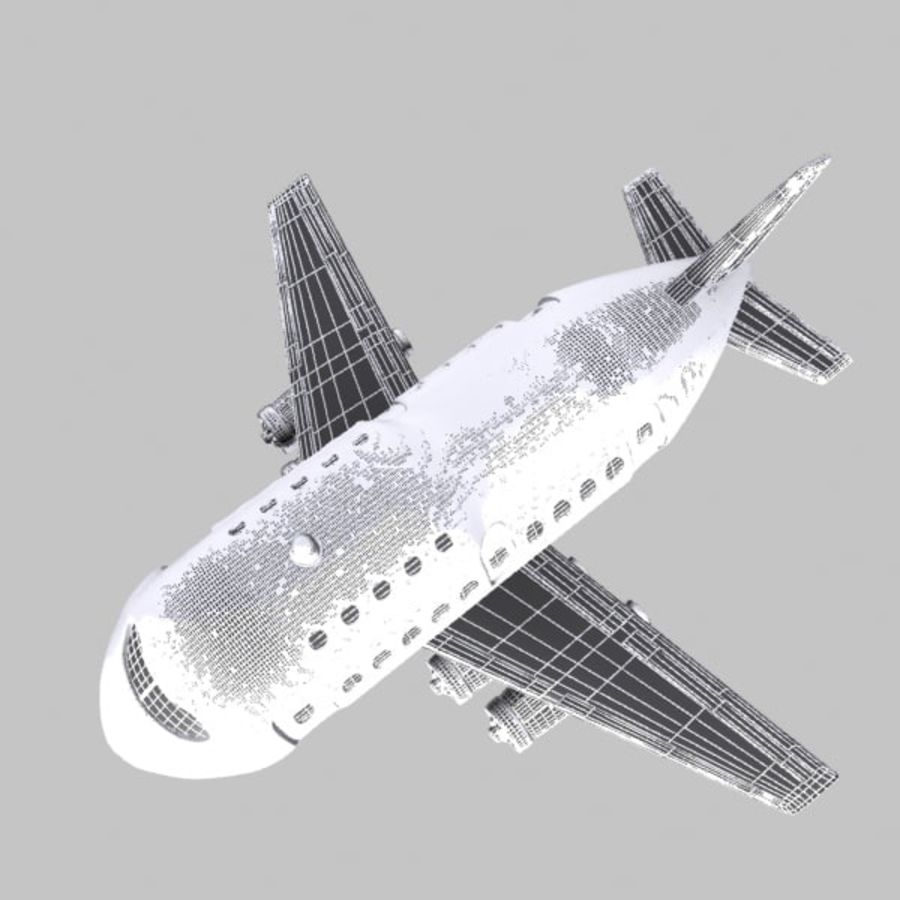 Cartoon Wide-Body Aircraft royalty-free 3d model - Preview no. 12
