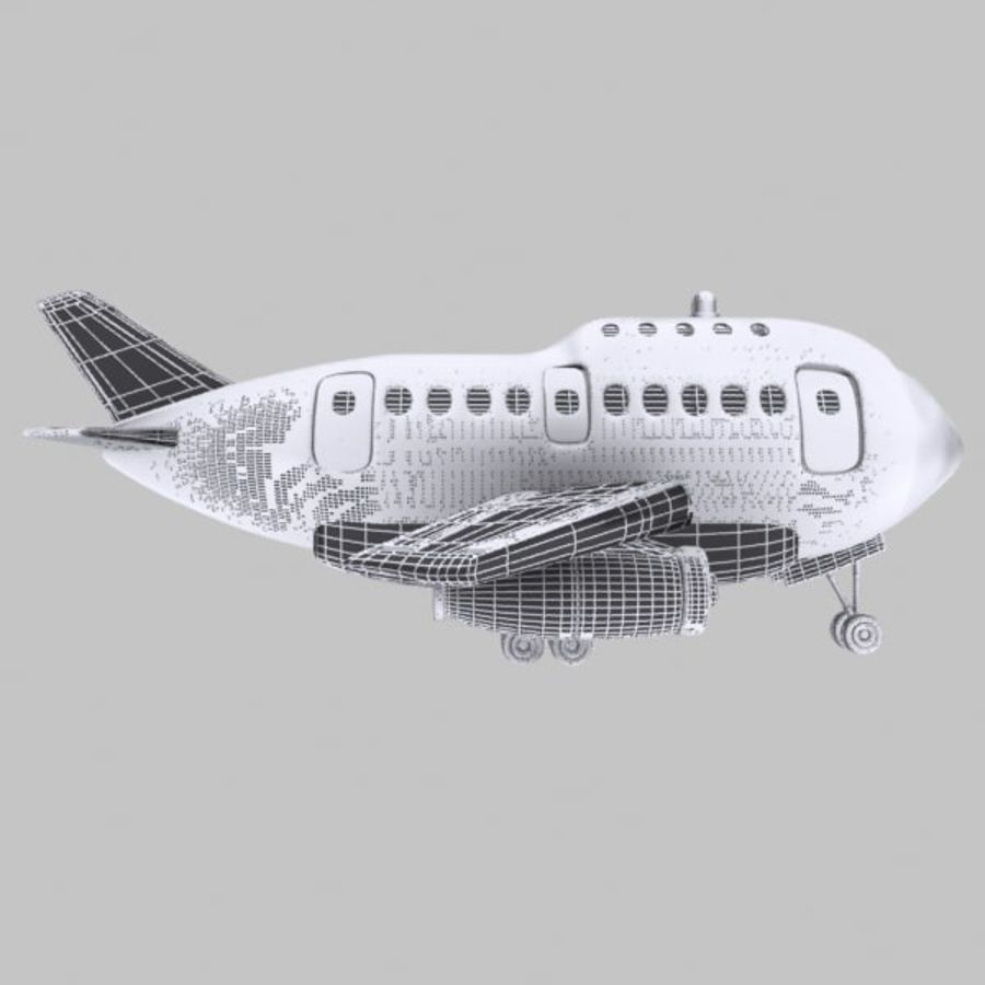Cartoon Wide-Body Aircraft royalty-free 3d model - Preview no. 13