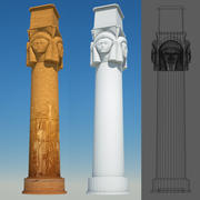 egyptian column 8 3d model