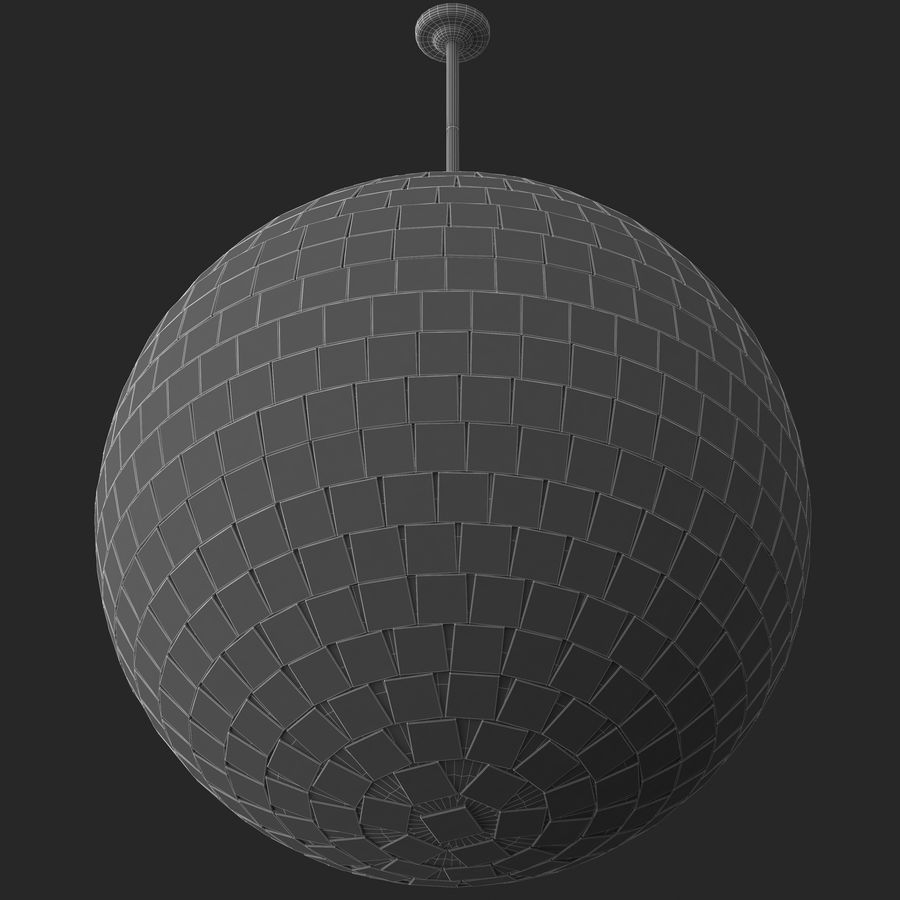 Mirror ball royalty-free 3d model - Preview no. 4