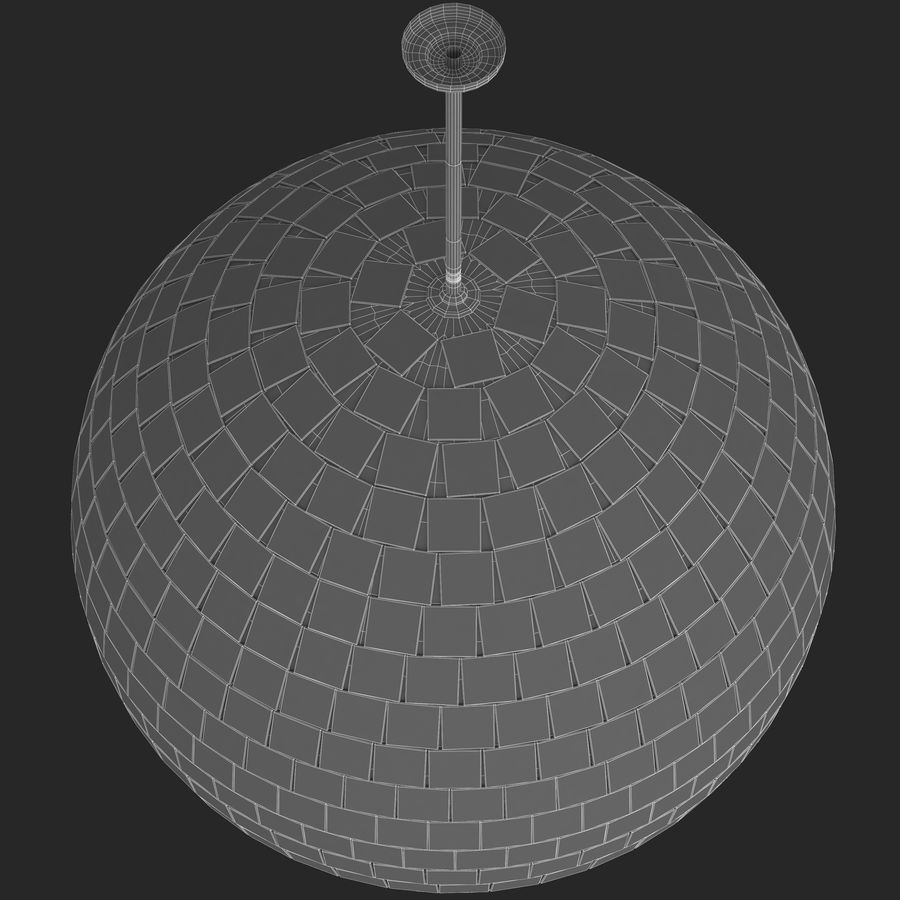 Mirror ball royalty-free 3d model - Preview no. 5