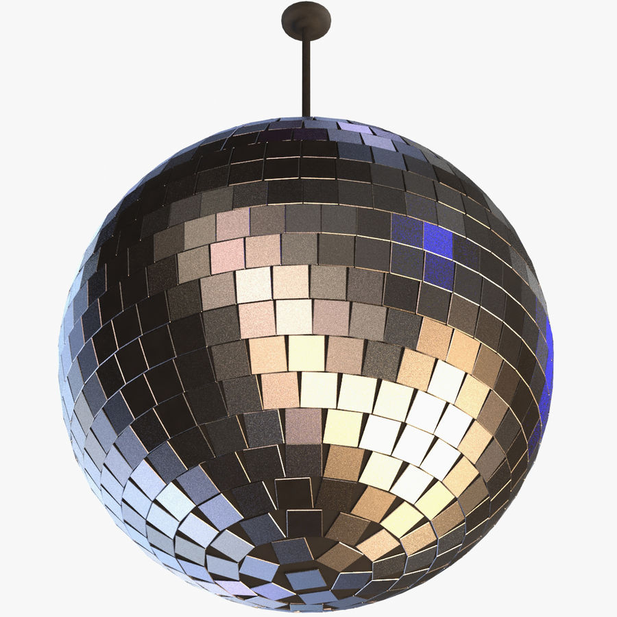 Mirror ball royalty-free 3d model - Preview no. 1