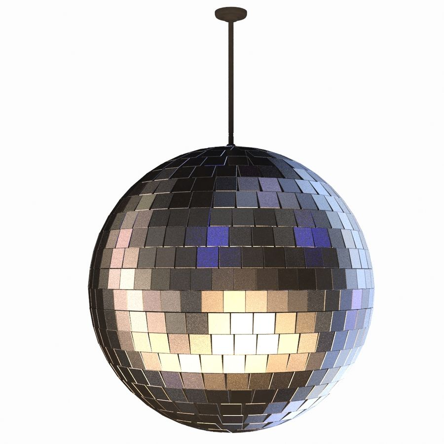 Mirror ball royalty-free 3d model - Preview no. 2