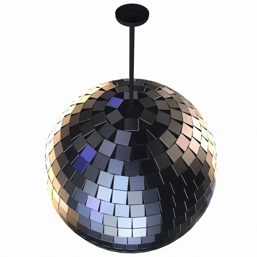 Mirror ball royalty-free 3d model - Preview no. 3