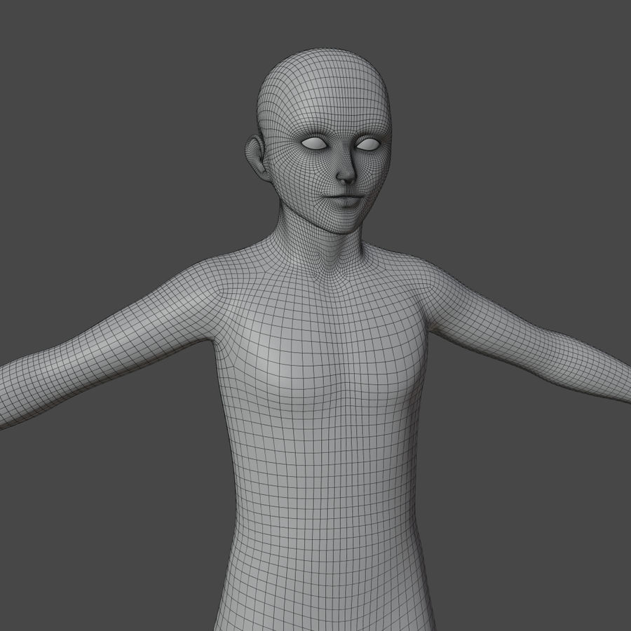 Stylized Humanoid Base Mesh - Male -Rigged- royalty-free 3d model - Preview no. 5