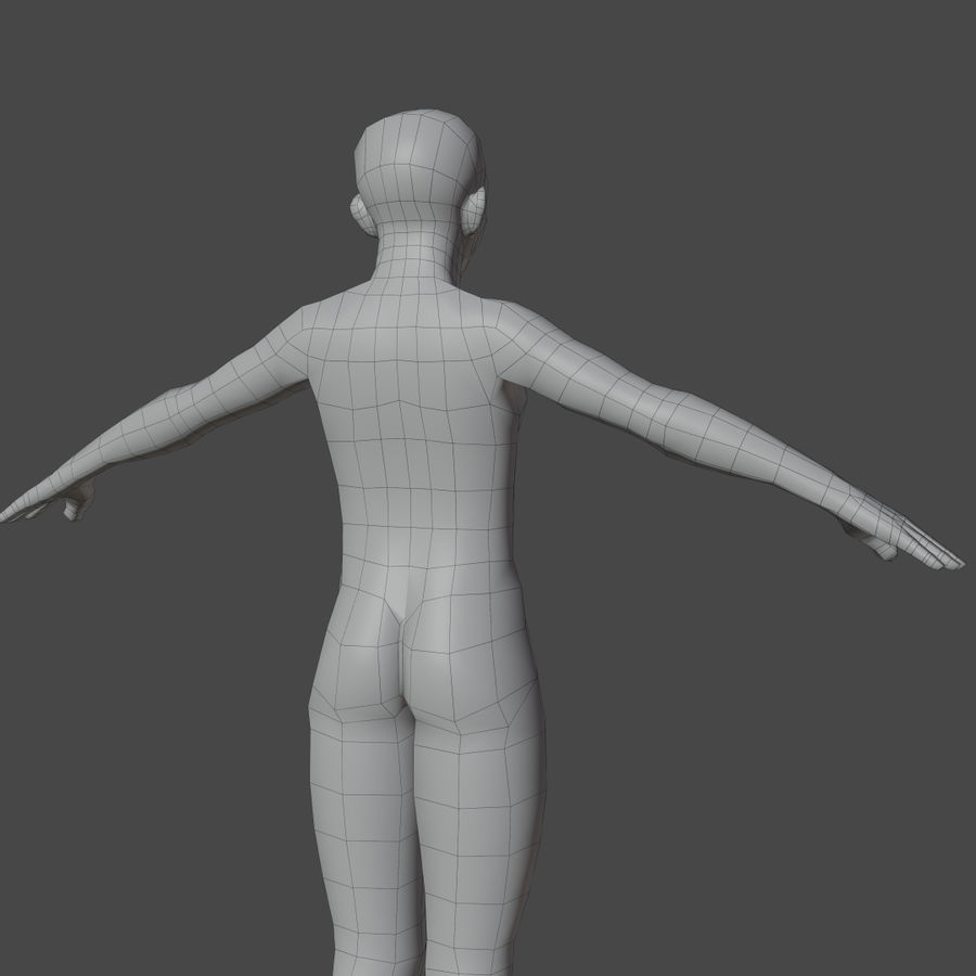 Stylized Humanoid Base Mesh - Male -Rigged- royalty-free 3d model - Preview no. 6