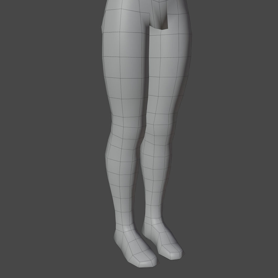 Stylized Humanoid Base Mesh - Male -Rigged- royalty-free 3d model - Preview no. 12
