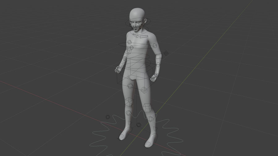 Stylized Humanoid Base Mesh - Male -Rigged- royalty-free 3d model - Preview no. 1