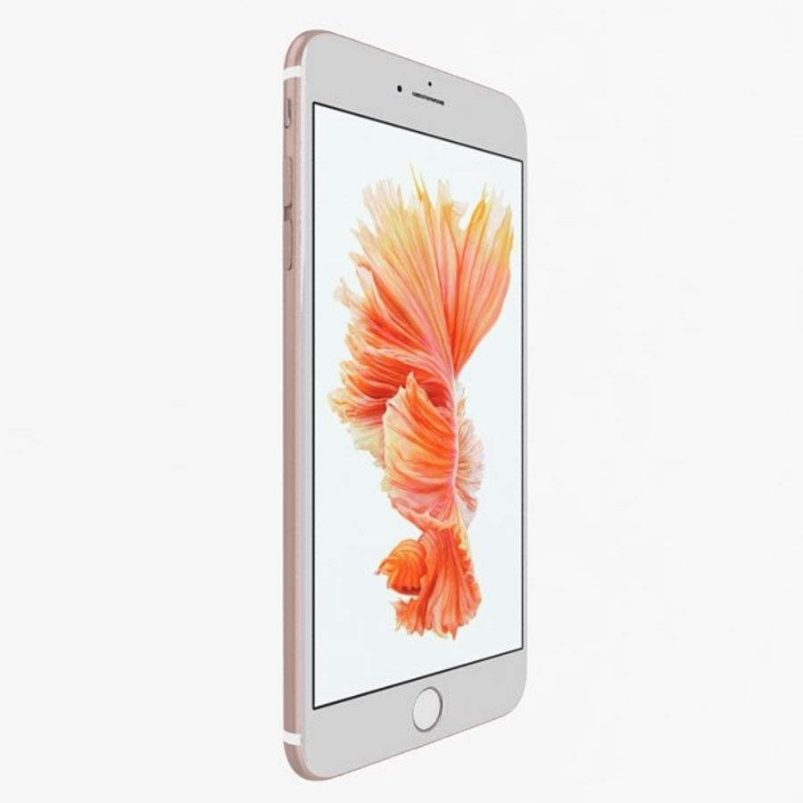 Apple iPhone 6s Artı Gül Altın royalty-free 3d model - Preview no. 2
