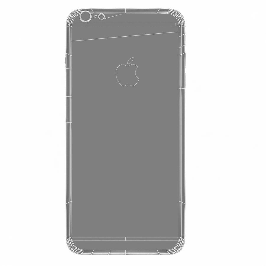 Apple iPhone 6s Artı Gül Altın royalty-free 3d model - Preview no. 15
