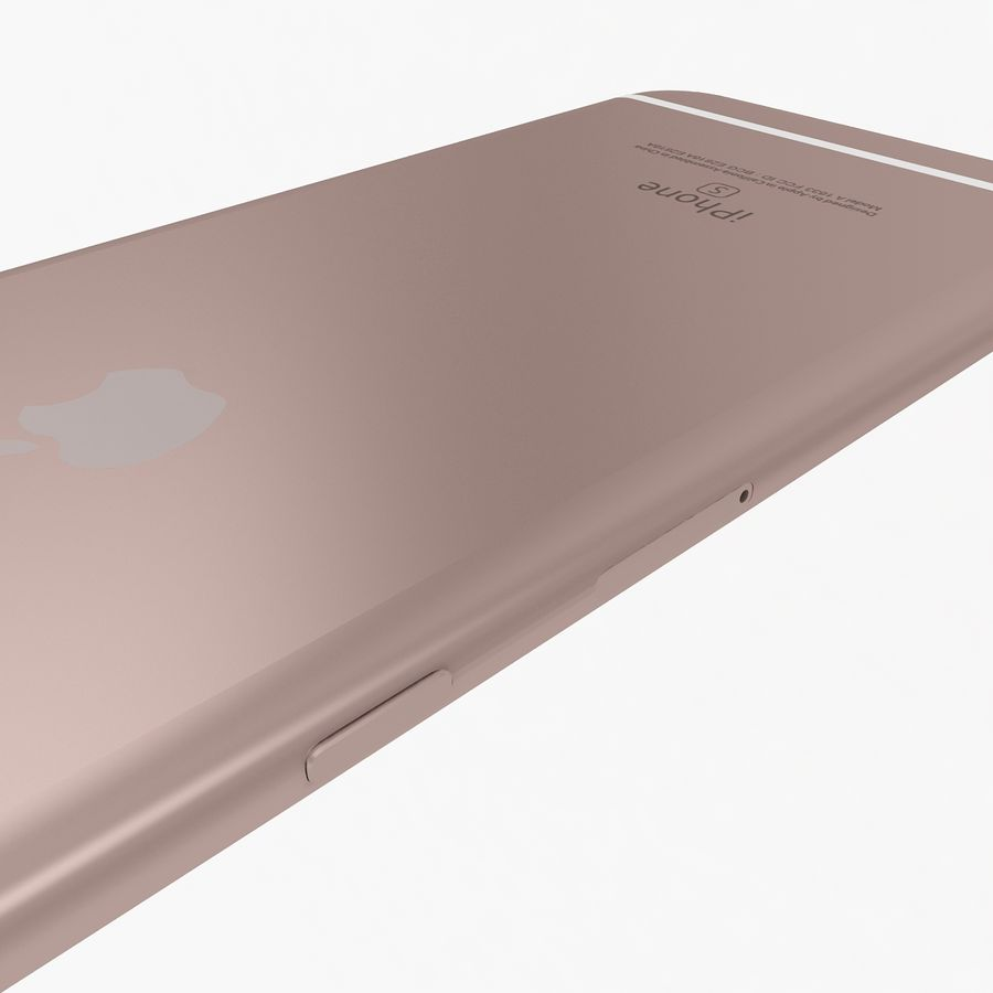Apple iPhone 6s Artı Gül Altın royalty-free 3d model - Preview no. 11