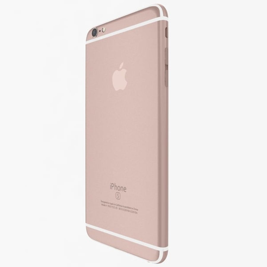 Apple iPhone 6s Artı Gül Altın royalty-free 3d model - Preview no. 4