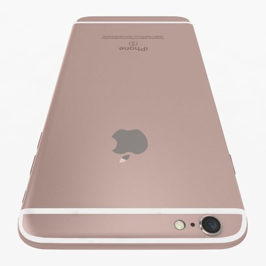 Apple iPhone 6s Artı Gül Altın royalty-free 3d model - Preview no. 6