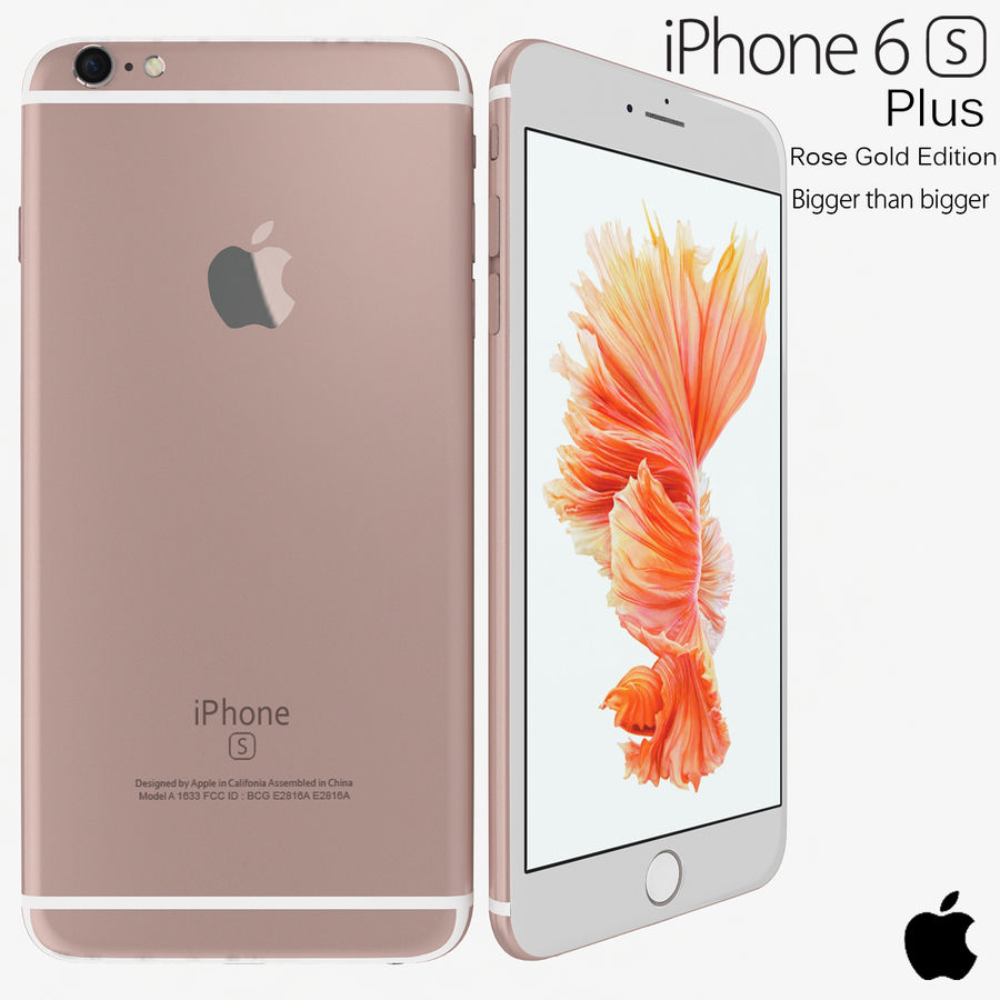 Apple iPhone 6s Artı Gül Altın royalty-free 3d model - Preview no. 1