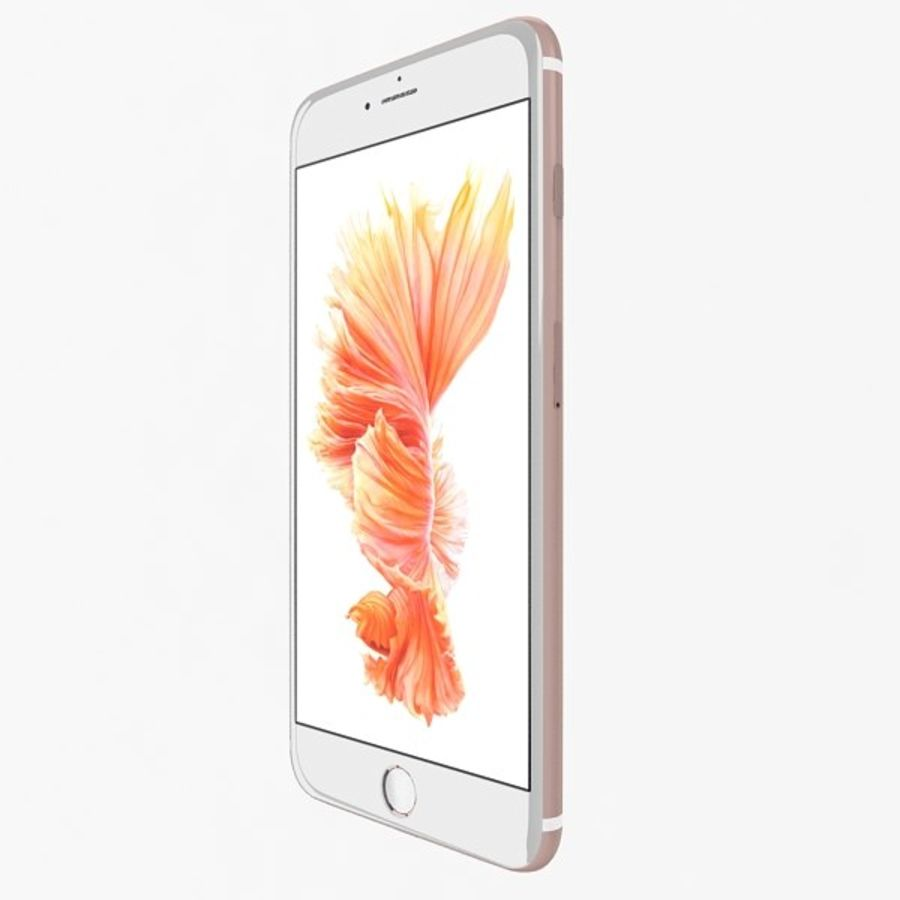 Apple iPhone 6s Artı Gül Altın royalty-free 3d model - Preview no. 3