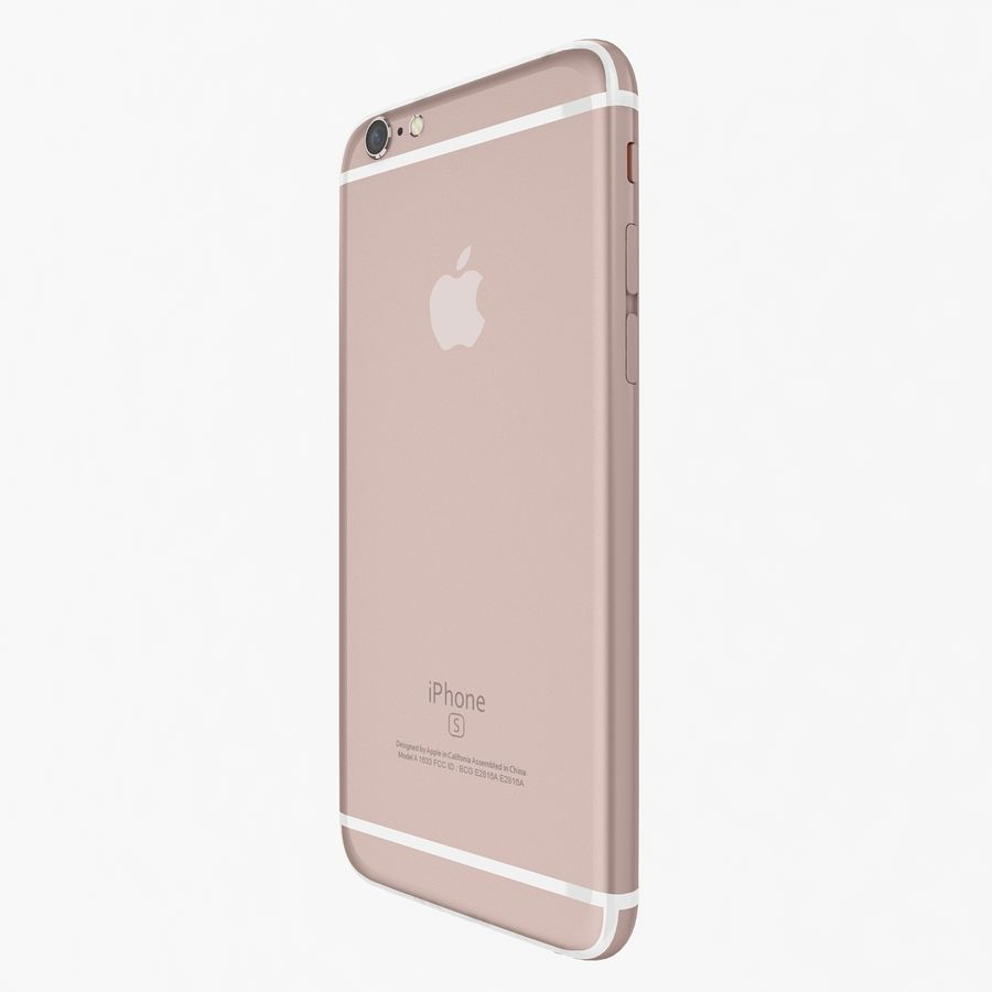 Apple iPhone 6s Artı Gül Altın royalty-free 3d model - Preview no. 5