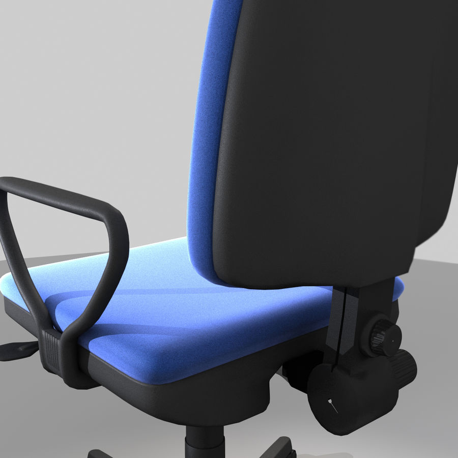 Chaise de bureau royalty-free 3d model - Preview no. 4