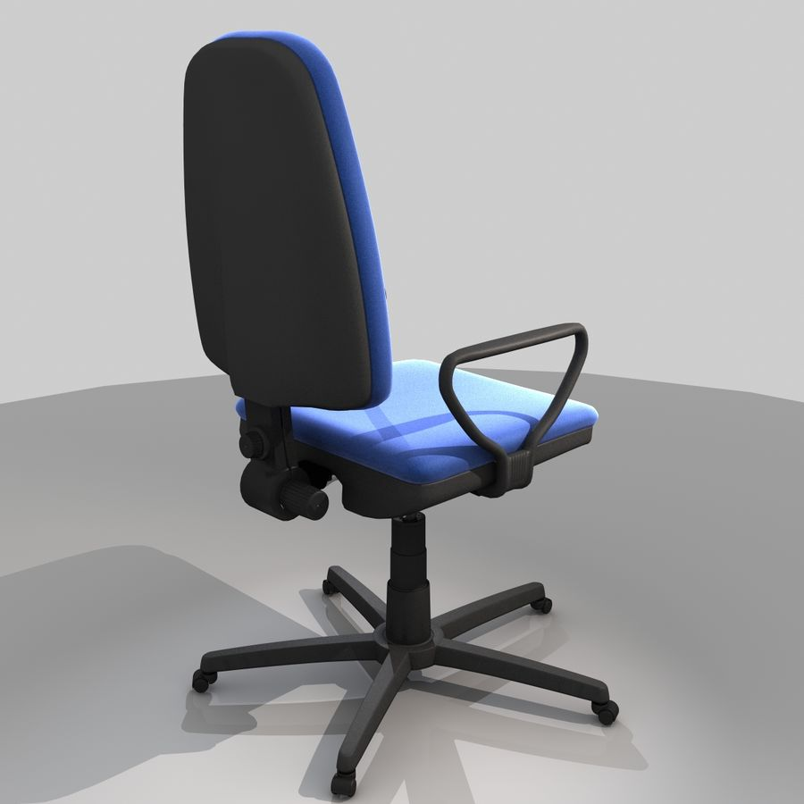 Chaise de bureau royalty-free 3d model - Preview no. 5
