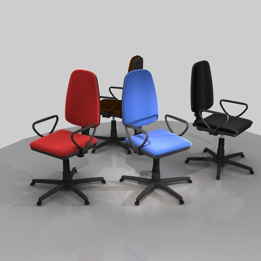 Chaise de bureau royalty-free 3d model - Preview no. 12