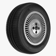 米其林轮胎和DeLorean Rim 3d model