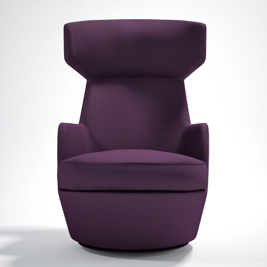 Bensen My Turn armchair royalty-free 3d model - Preview no. 2