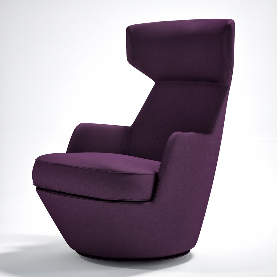 Bensen My Turn armchair royalty-free 3d model - Preview no. 1