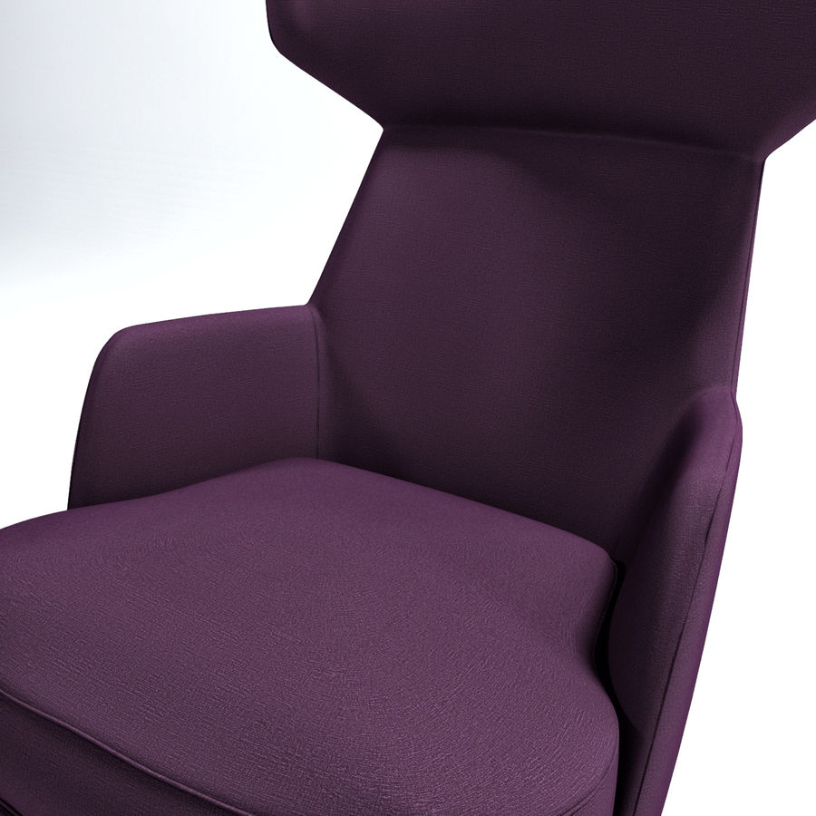 Bensen My Turn armchair royalty-free 3d model - Preview no. 3