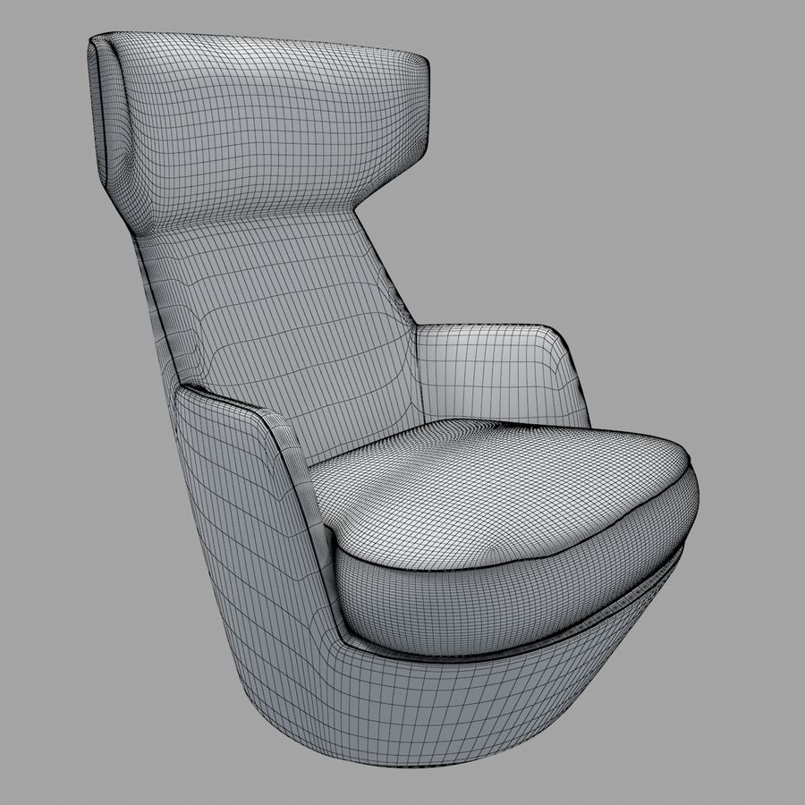 Bensen My Turn armchair royalty-free 3d model - Preview no. 7