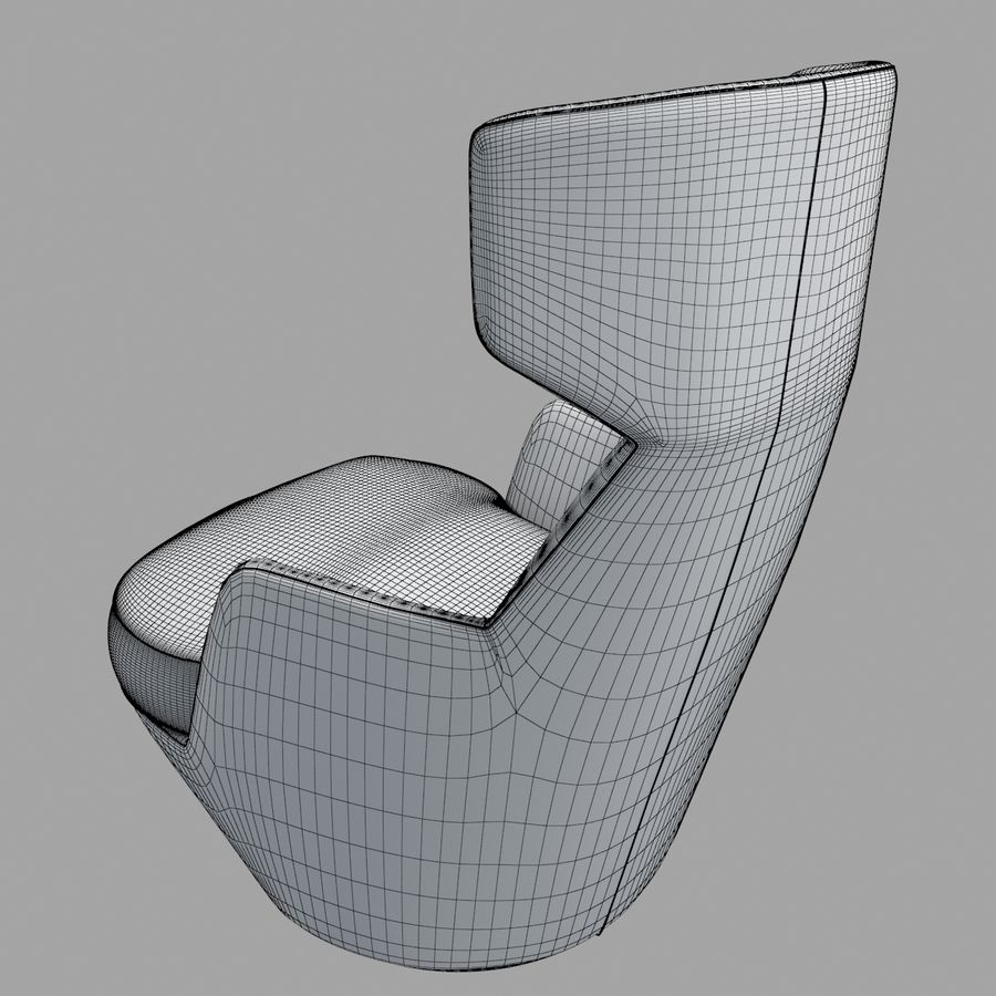 Bensen My Turn armchair royalty-free 3d model - Preview no. 6