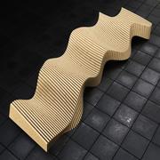 panchina 3d model