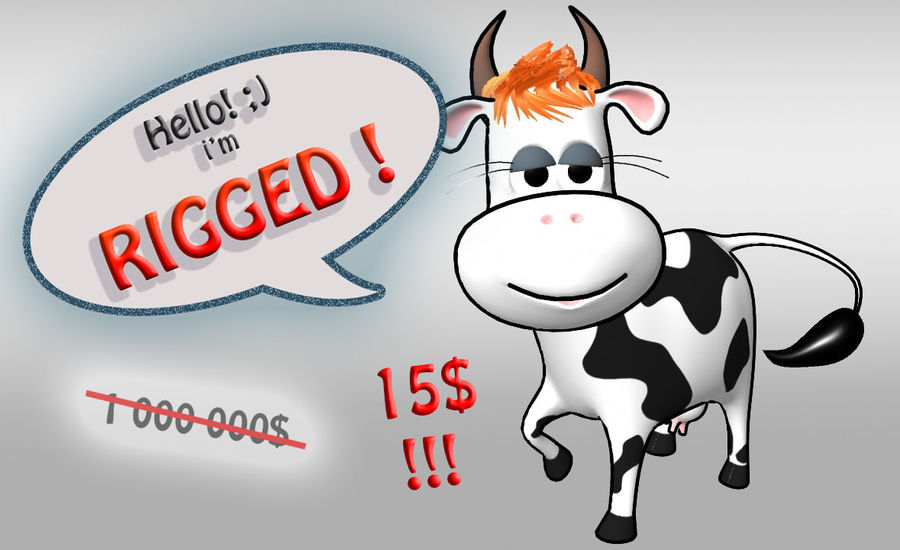 Vaca dos desenhos animados royalty-free 3d model - Preview no. 1
