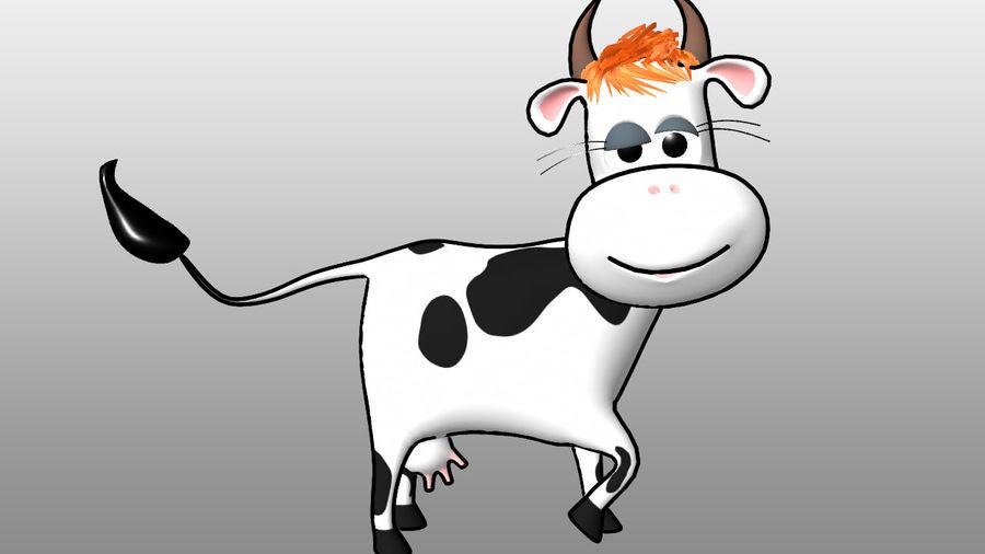 Vaca dos desenhos animados royalty-free 3d model - Preview no. 5