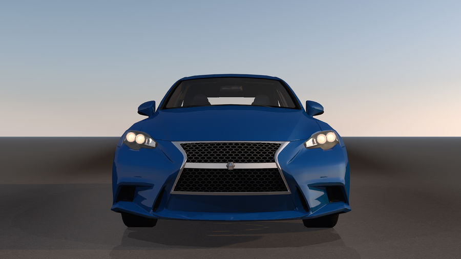 Sports Car with Headlights and Opening Doors royalty-free 3d model - Preview no. 12