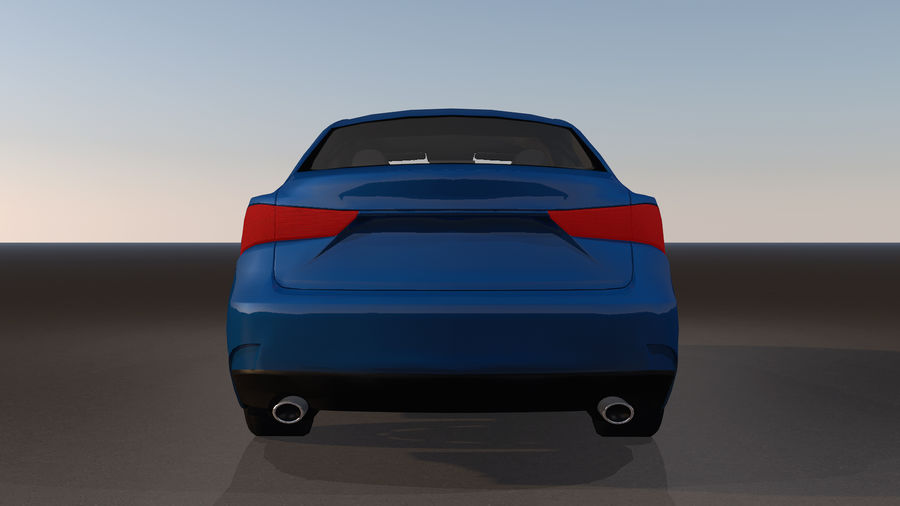 Sports Car with Headlights and Opening Doors royalty-free 3d model - Preview no. 21
