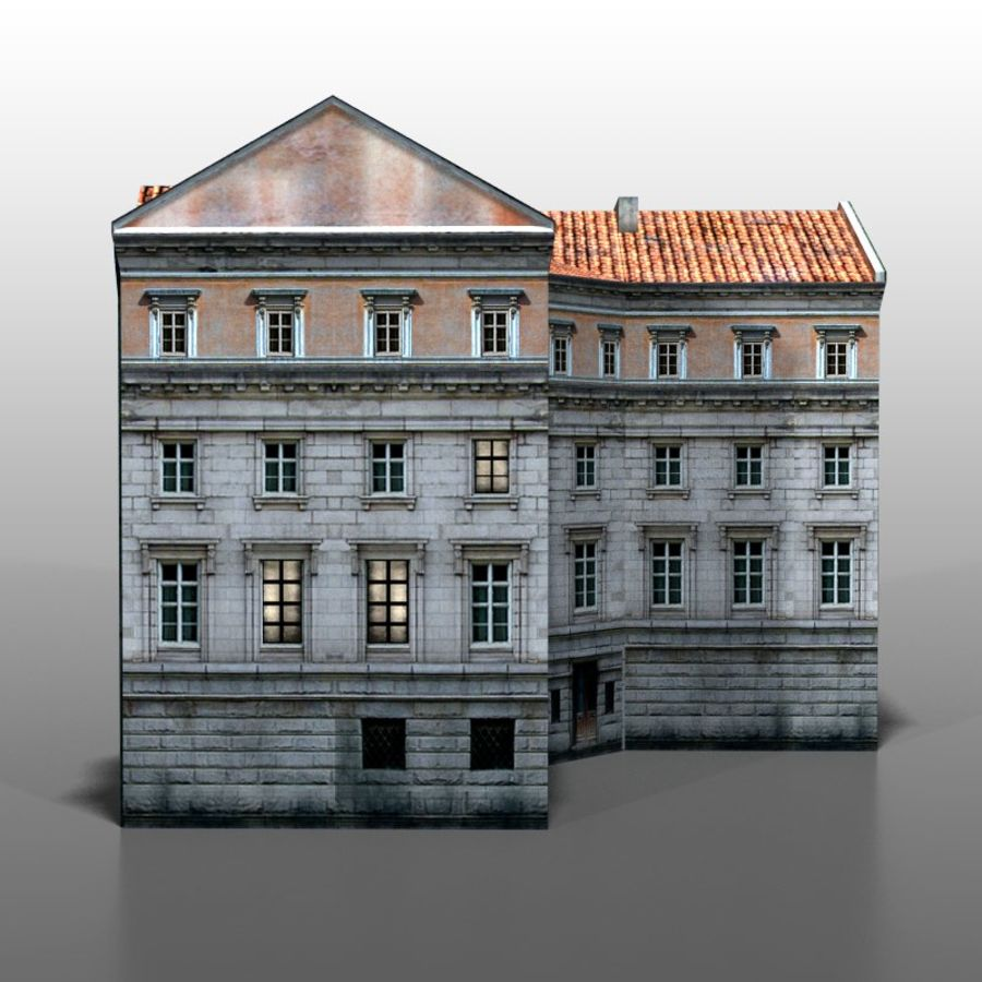 Polish house v9 royalty-free 3d model - Preview no. 4