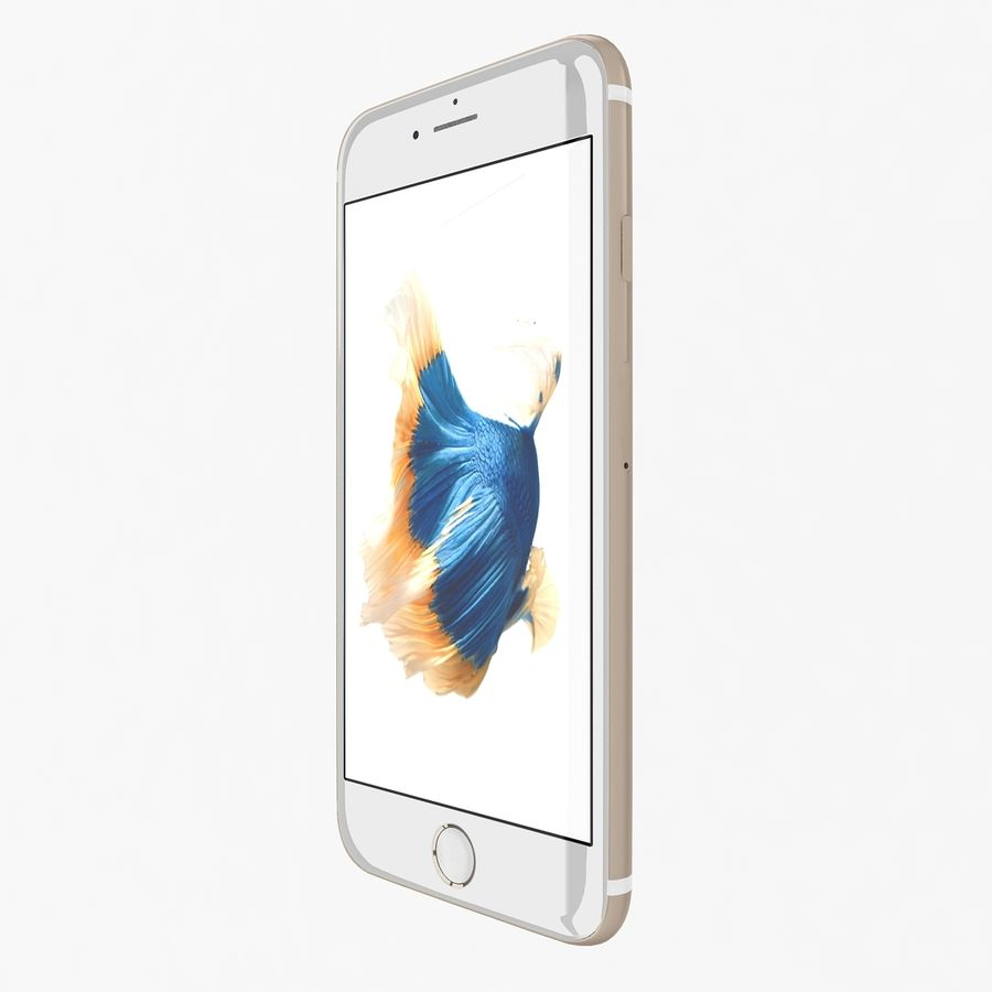 Apple iPhone 6s Gold royalty-free 3d model - Preview no. 3