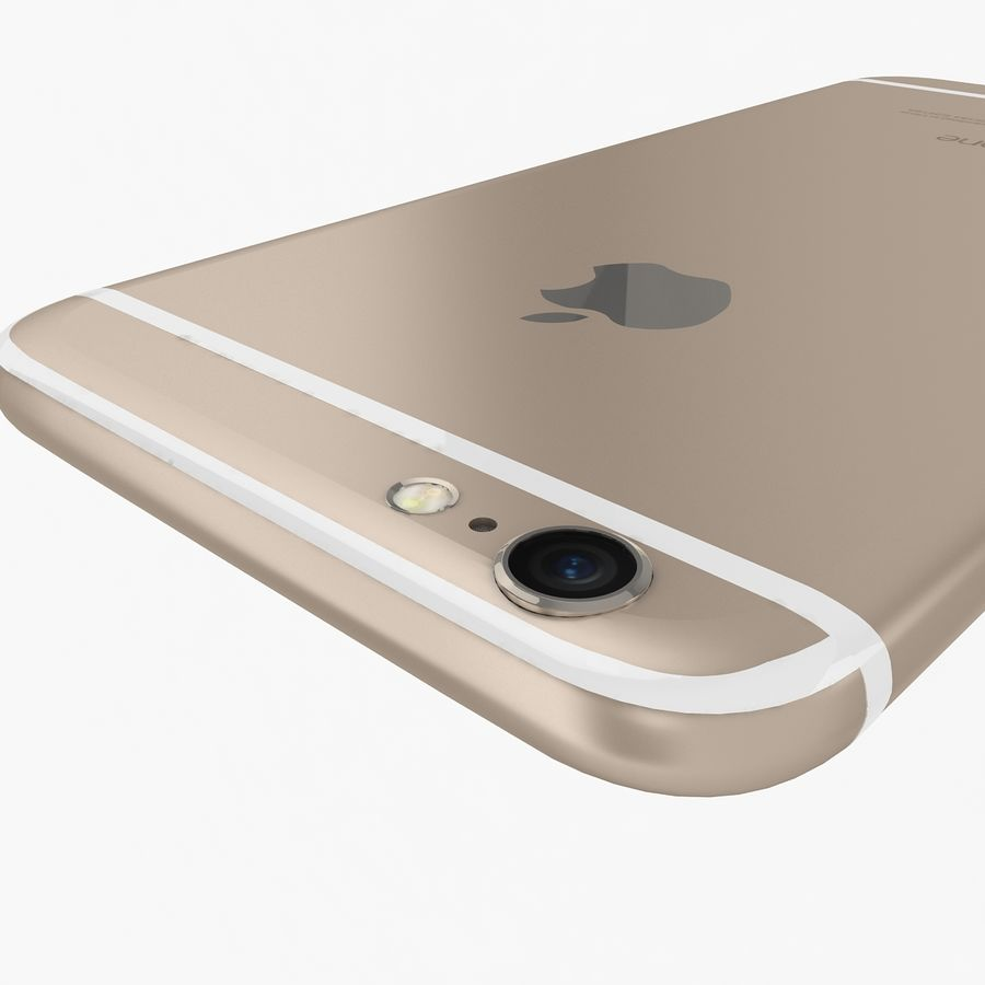 Apple iPhone 6s Gold royalty-free 3d model - Preview no. 10