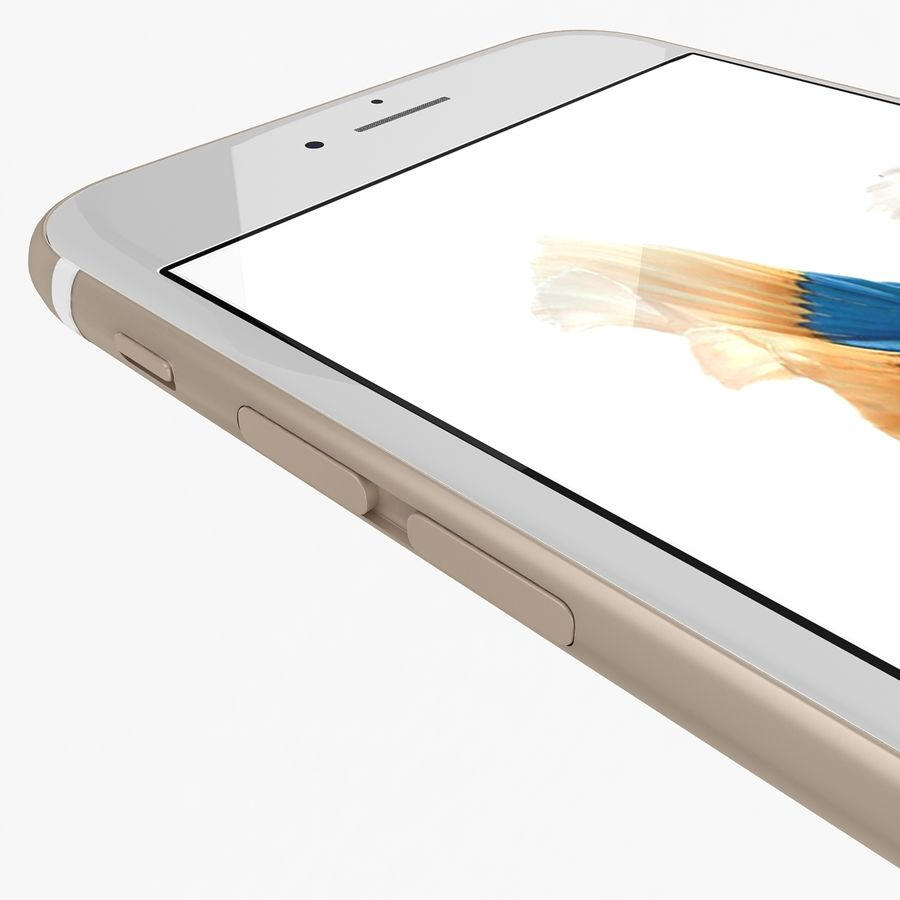 Apple iPhone 6s Gold royalty-free 3d model - Preview no. 9