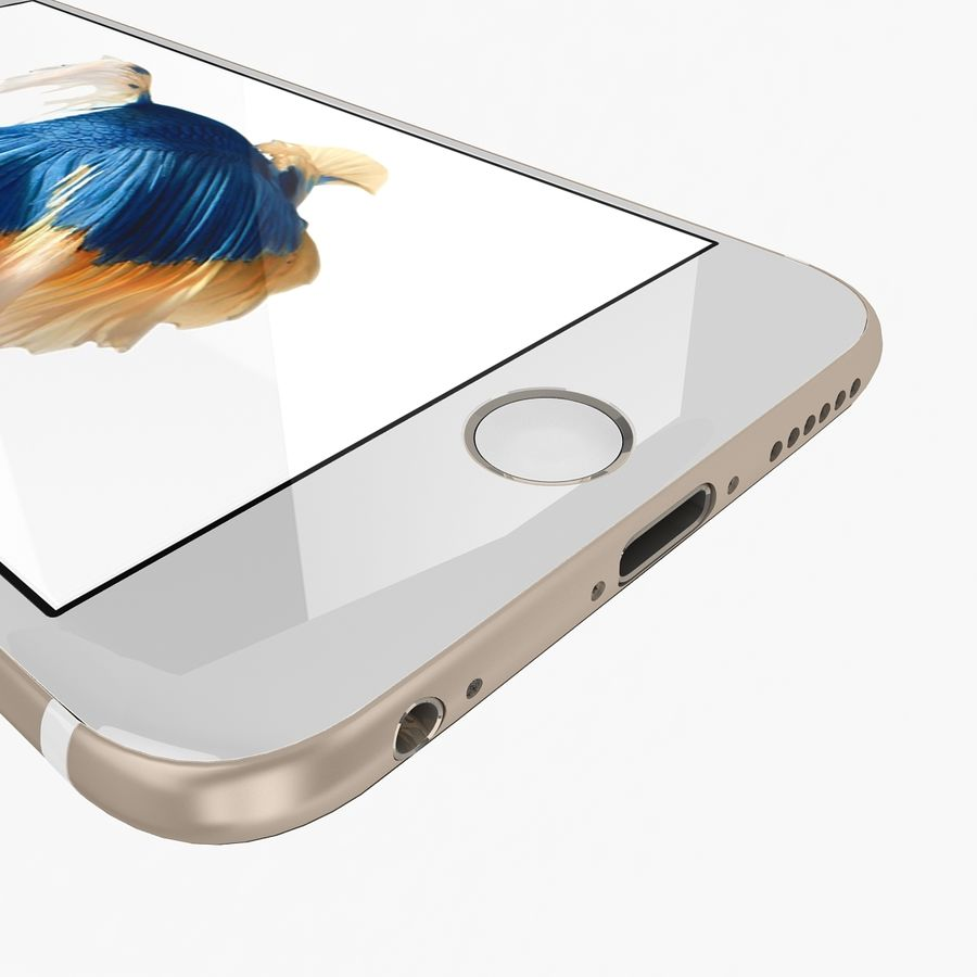 Apple iPhone 6s Gold royalty-free 3d model - Preview no. 8