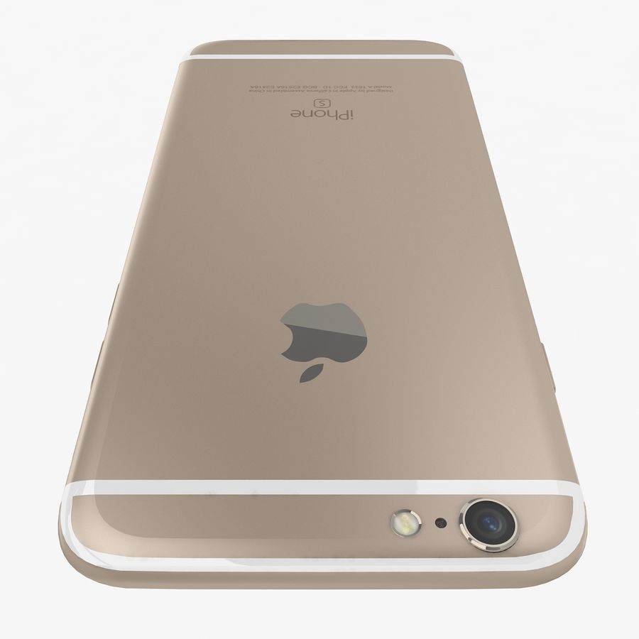 Apple iPhone 6s Gold royalty-free 3d model - Preview no. 6