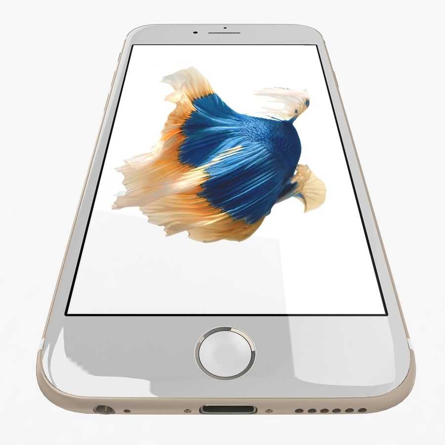 Apple iPhone 6s Gold royalty-free 3d model - Preview no. 7