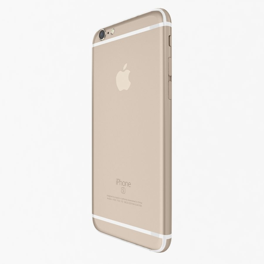 Apple iPhone 6s Gold royalty-free 3d model - Preview no. 5