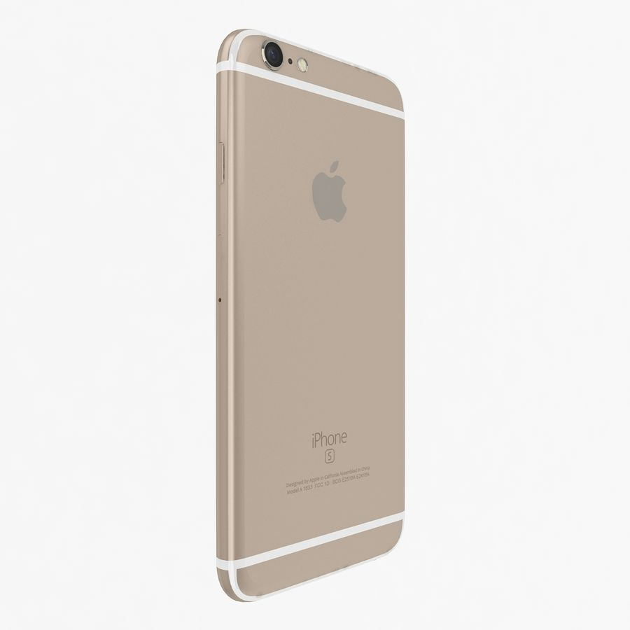 Apple iPhone 6s Gold royalty-free 3d model - Preview no. 4
