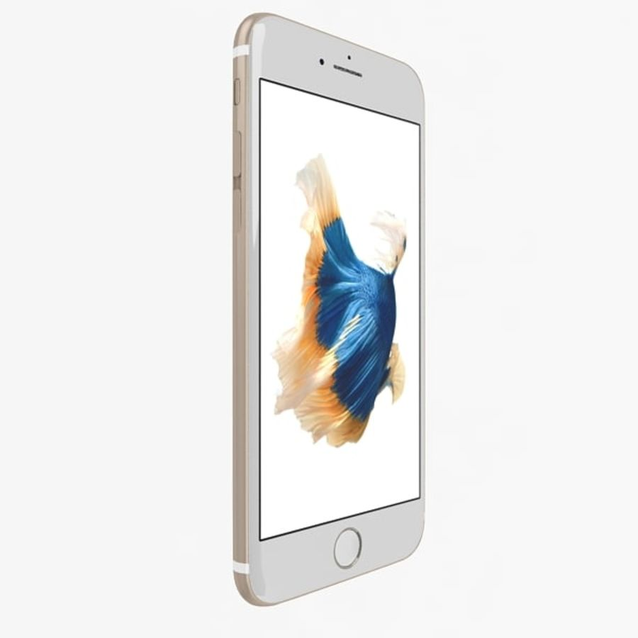 Apple iPhone 6s Gold royalty-free 3d model - Preview no. 2